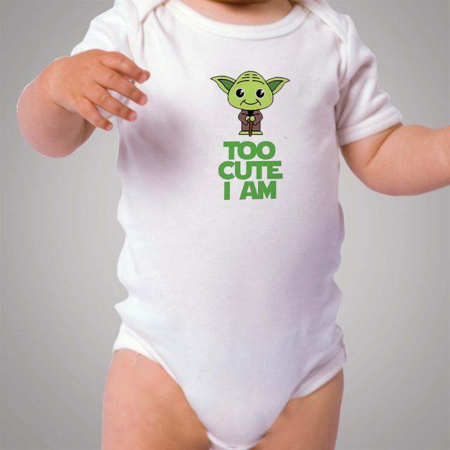 Yoda Star Wars Too Cute I Am Baby Onesie