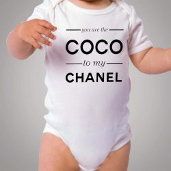 You Are The Coco To My Channel Quote Baby Onesie