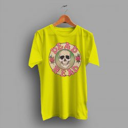 A Kind Grateful Dead Head Pink Skull Roses T Shirt