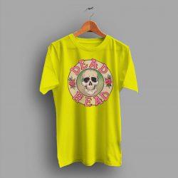 A Kind Grateful Dead Head Pink Skull Roses T Shirt
