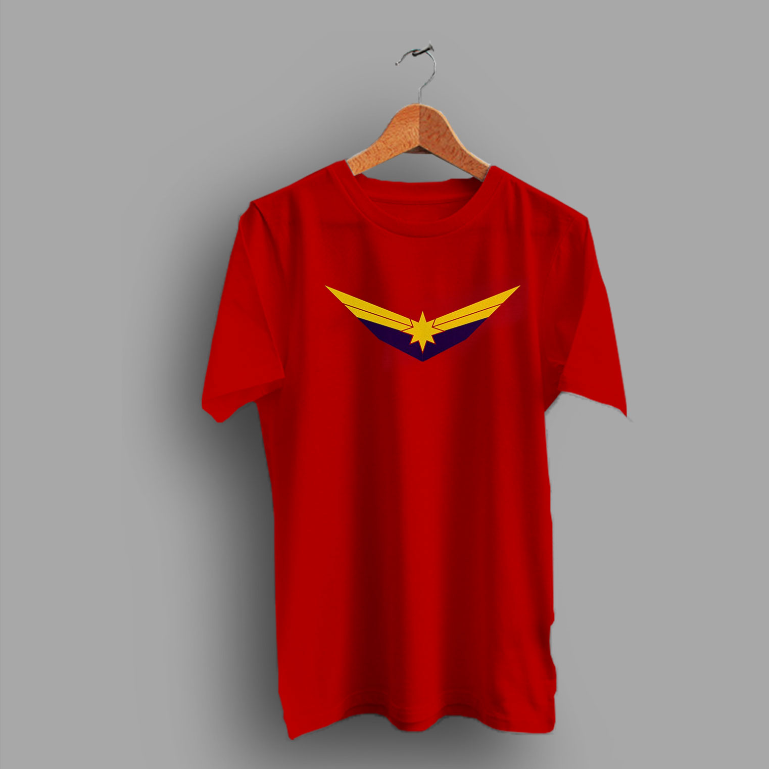 5ed29747 Air Force Inspired Logo Captain Marvel Movie T Shirt By HotVero