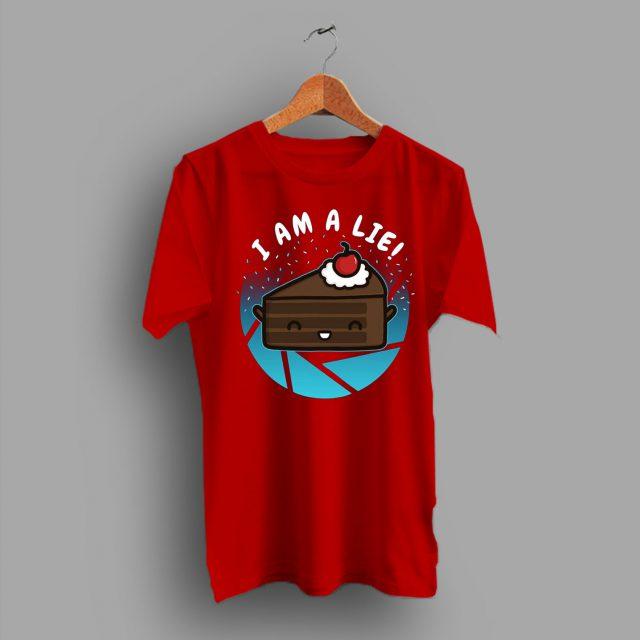 Cute Cake I Am A Lie Funny Geek T Shirt