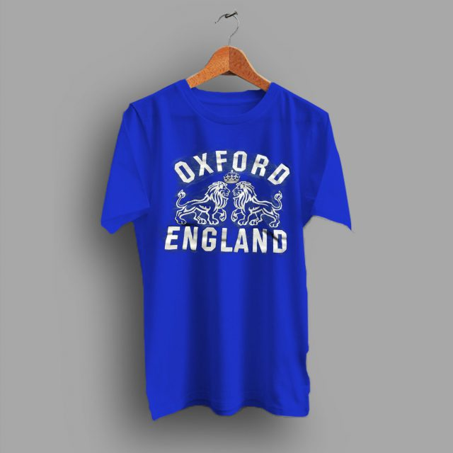 England UK Crest Blue Oxford University College T Shirt