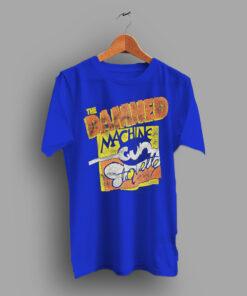 Goth Rock Rare Punk The Damned Machine Gun Etiquette 80s T Shirt