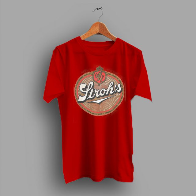 Item From The 80s Strohs Beer T Shirt