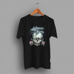 On Your Collection Skull And Roses Black Deftones 9os T Shirt