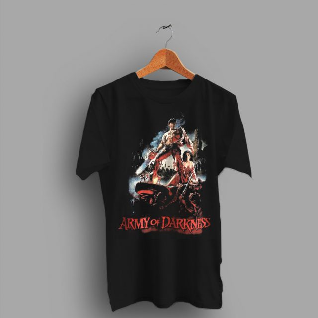 Return Of 1990s Army Of Darkness Vintage Movie T Shirt