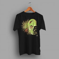 Sick Soft Rock N Roll Skull And Spiders Graphic T Shirt