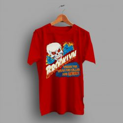 Stitch Skull Fire Brooklyn Where The Weak Are Killed And Eaten T Shirt