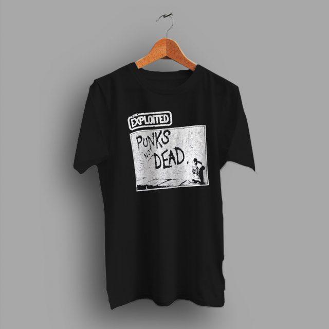 The Exploited Punks Not Dead Vintage 90s T Shirt