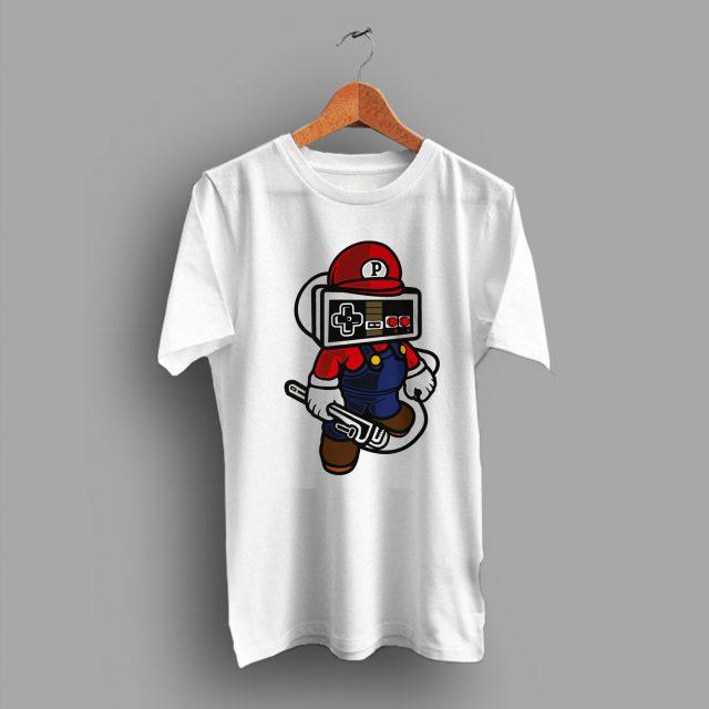 Vintage Controller Inspired Game Retro Nintendo Mario T Shirt
