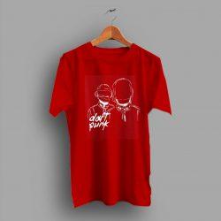 White Vintage Daft Punk Band Logo T Shirt