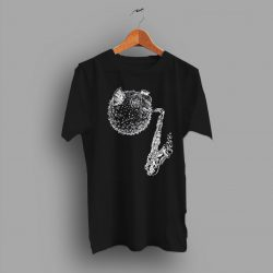 Blow Fish Saxophone Charcoal Classic T Shirt 1
