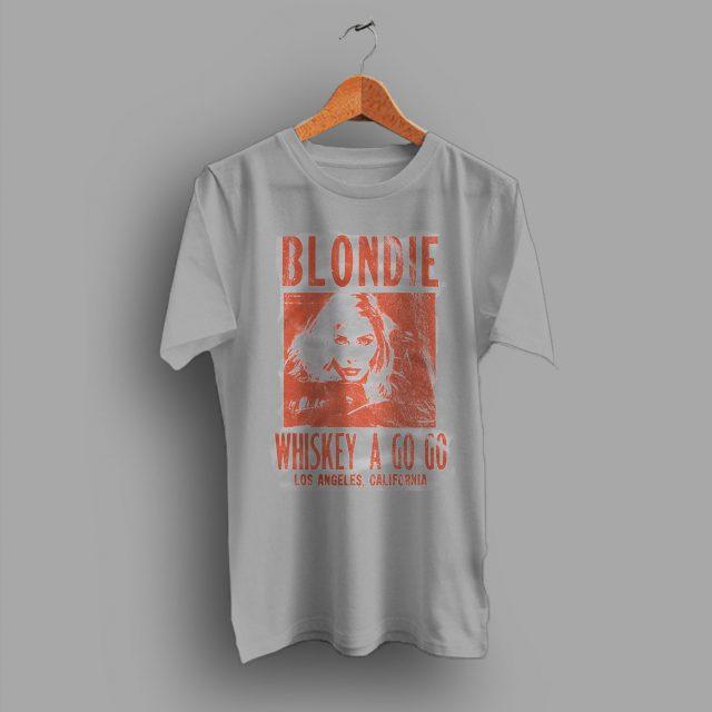 California Vintage Retro Blondie Whiskey A Go Punk Rock T Shirt