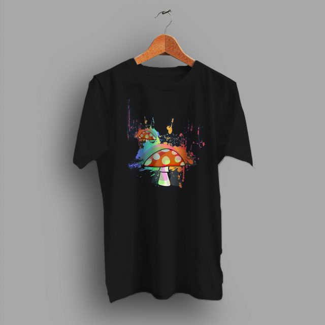 Collection Sketch Elements Mushroom Cute T Shirt