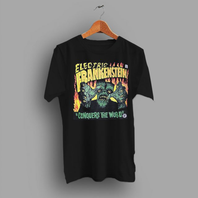 Misfits White Zombie Electric Frankenstein Punk Horror T Shirt