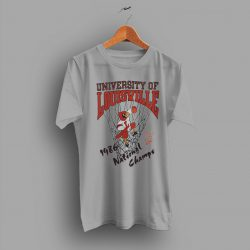 Small Graphic Grey University of Louisville Vintage 1986 College T Shirt