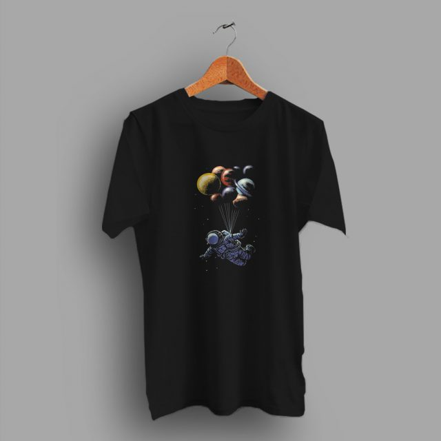 Adult Streetwear Space Travel Parody With Balon Cute T Shirt