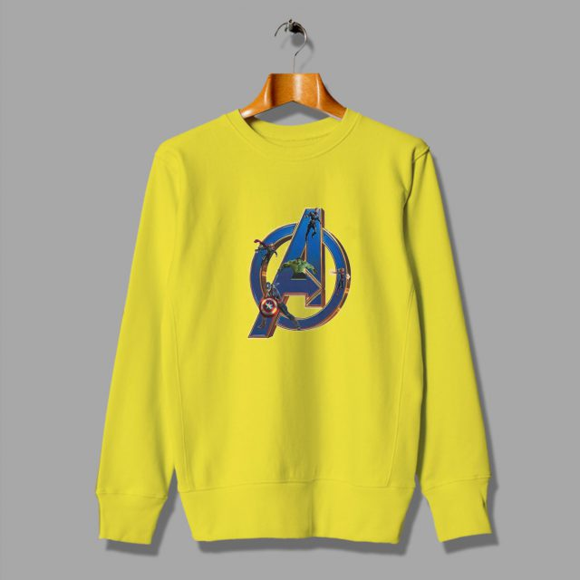Brith All Caracter Aveengers Superhero Sweatshirt