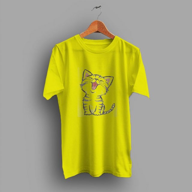 Emoji Cat Happy Incredible Short Hair Cute T Shirt
