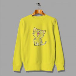 Emoji Cat Happy Short Hair Cute Sweatshirt