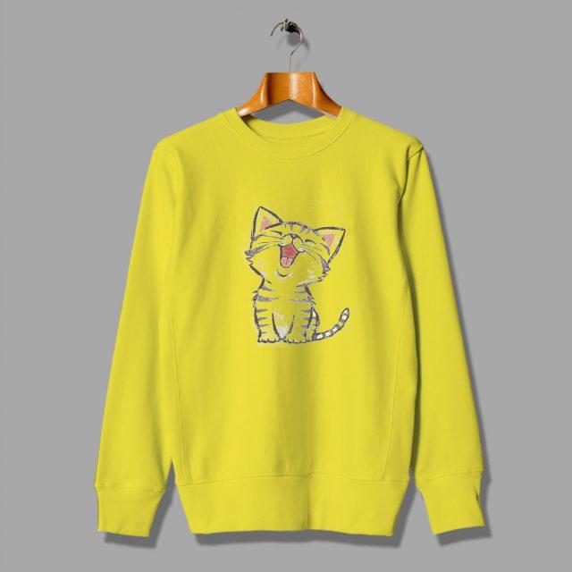 Emoji Cat Happy Short Hair Cute Sweatshirt