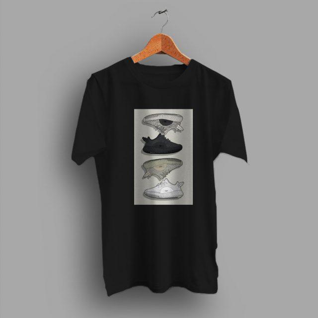 Frame Looks Sneaker Poster Yezy Urban T Shirt