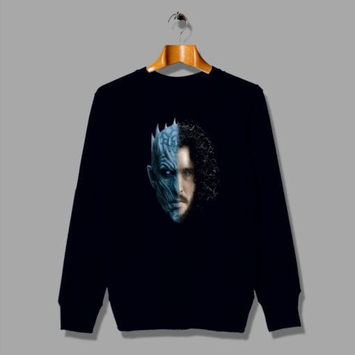 Game Of Thrones Jon Snow White Walker Two Face Sweatshirt