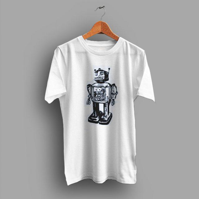 Geeky Tech Robot Computer Nerdy Geek T Shirt