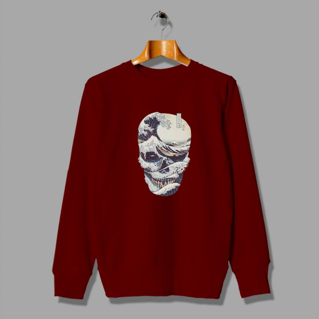 Great Wave Off Japanese Style Skull Sweatshirt