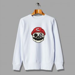 Illustration Mario Cartoons Likes Skull Sweatshirt