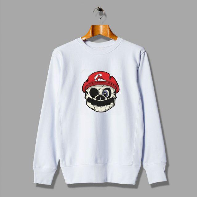 Illustration Mario Cartoons Likes Skull Sweatshirt
