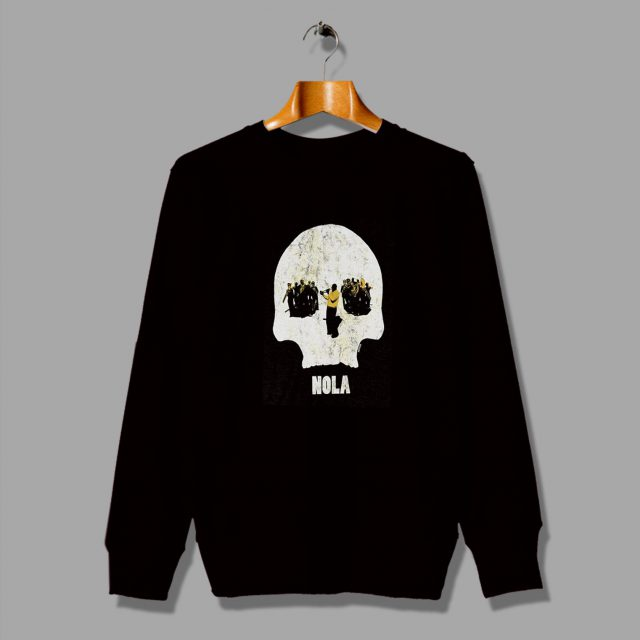 Jazz Funeral It New Orleans Nola Skull Sweatshirt