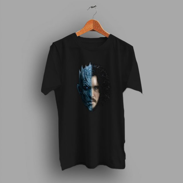 Jon Snow White Walker Game Of Thrones Two Face Funny T Shirt