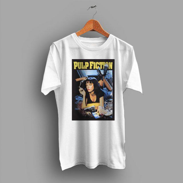 Mia Wallace Character Pulp Fiction 90s Movie T Shirt
