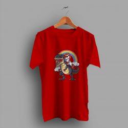Party Rainbow Squad Unicorn Riding Dinosaur Cute T Shirt