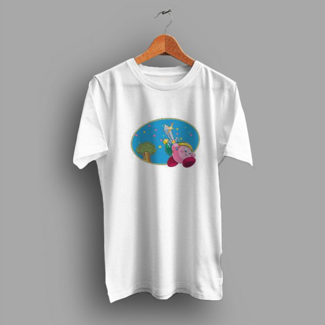 Retro Kirby With Sword Classic Game T Shirt