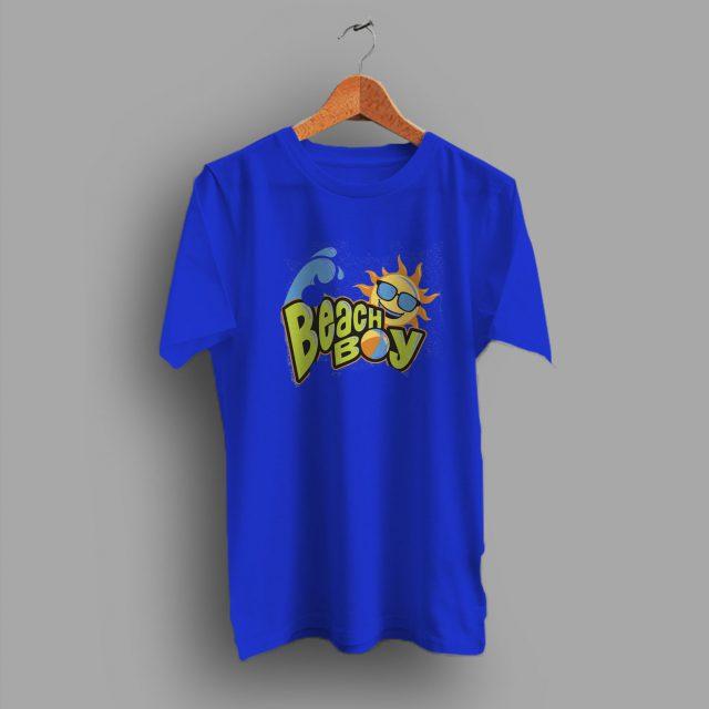 Sea And Sand Summer Trendy Beach Boy Hype Funny T Shirt