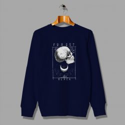 Skeleton Forest Black Father Day Skull Sweatshirt
