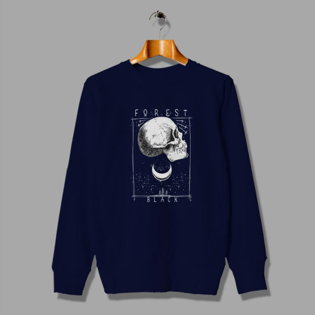 Skeleton Forest Black Father Day Skull Sweatshirt