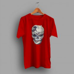 The Great Wave Off Japanese Style Skull T Shirt