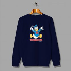 Vintage Big Print Donal Duck Cute Sweatshirt