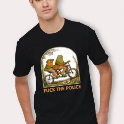 Cheap Frog and Toad F*ck the Police Funny T Shirt