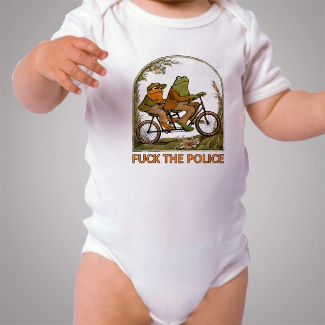Cute Frog and Toad F*CK Police Baby Onesies