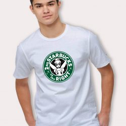 Disney Tinkerbell 2nd Starbucks To The Right T Shirt