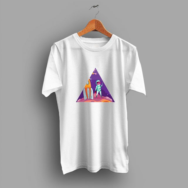 Look Rocket Astronout Space Aesthetic Geek T Shirt