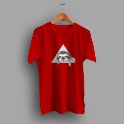 Mood Art Lazy Sloth Triangle Funny T Shirt