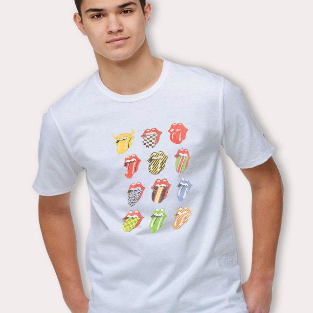 Vintage Rolling Stones 9 Lips T Shirt Style