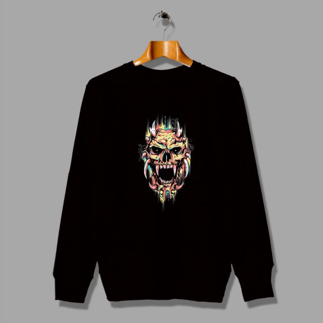 Cute Rainbow Skull Funny Sweatshirt