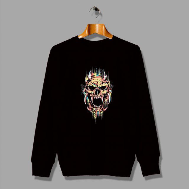 Cute Rainbow Skull Funny Sweatshirt